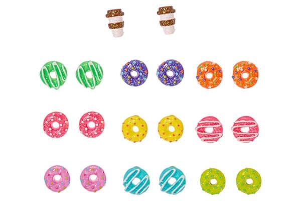 set claire's boucles d'oreilles donuts