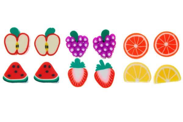 boucles d'oreilles claire's fruits