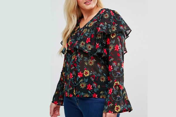 ASOS blouse fleurie