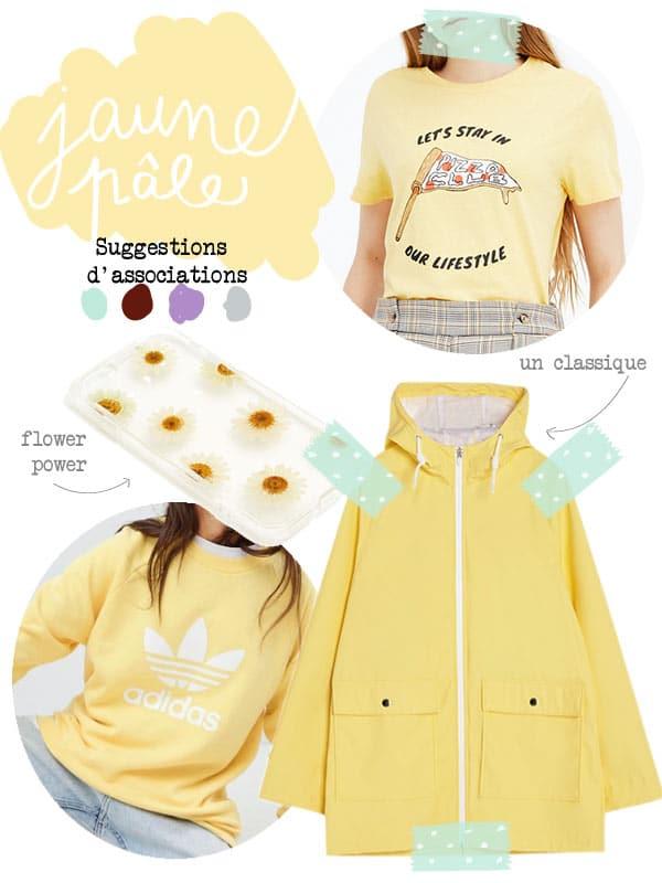 vêtements jaune pâle