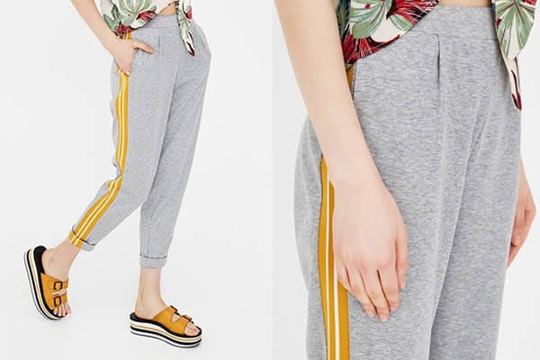jogging gris pull and bear