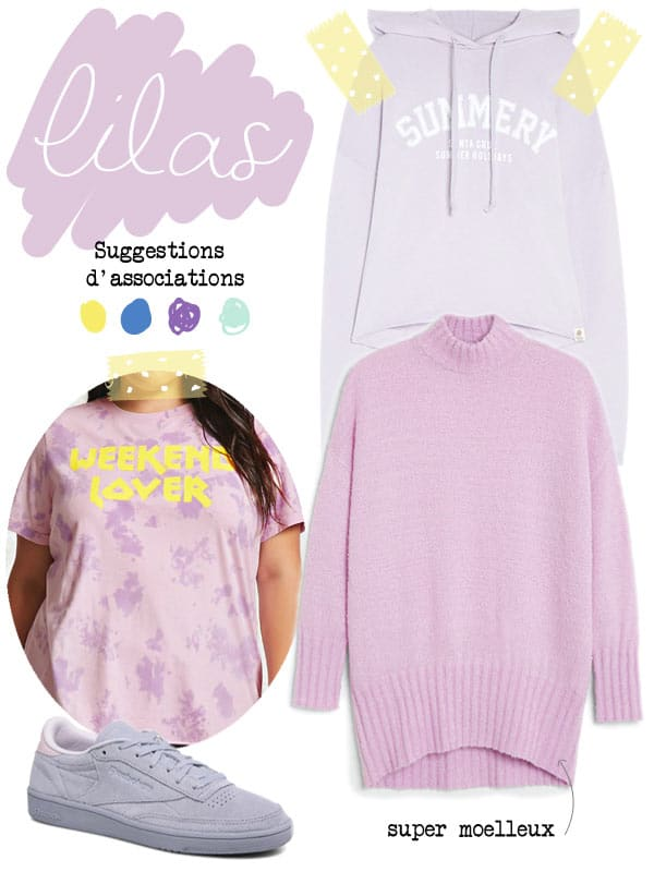 vêtements lilas