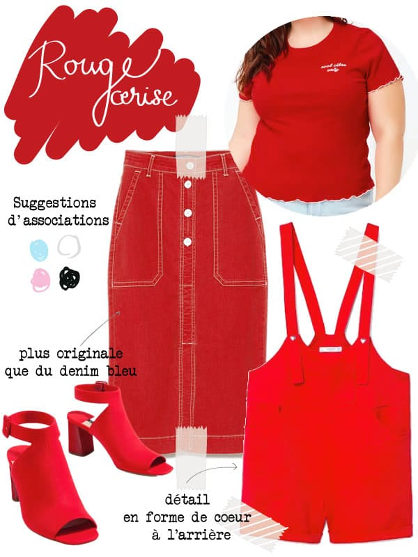 vêtements rouge cerise