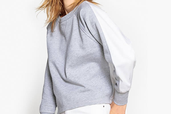 sweat shirt bicolore la redoute