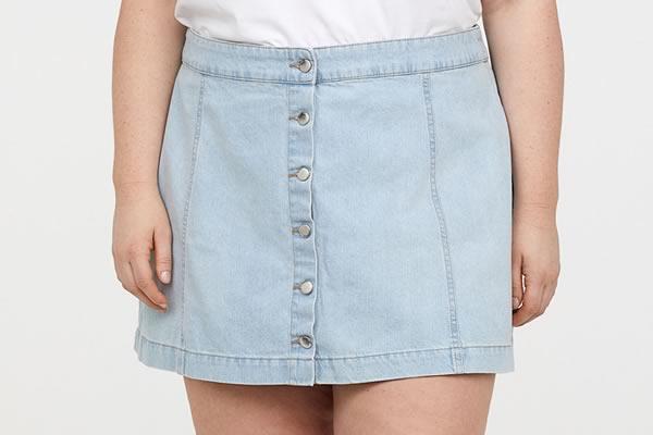 jupe en jean h&m grande taille