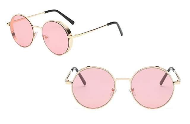 lunettes soleil roses