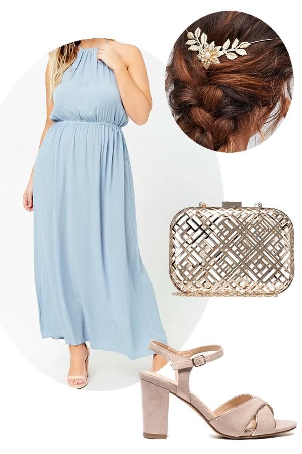 robe de soiree bleue Forever 21