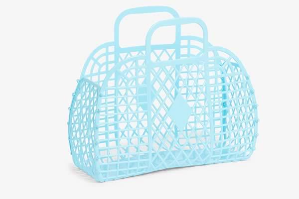 panier transparent plastique monki