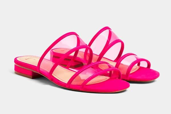 sandales plastiques transparentes