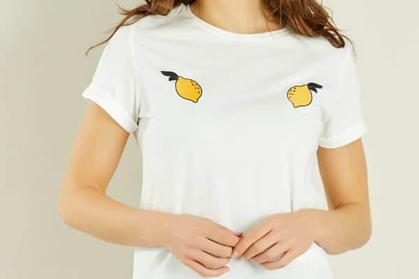 t-shirt citrons kiabi