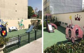 Guillaume Meurice en reportage au jardin d'enfants genré à Puteaux, en France