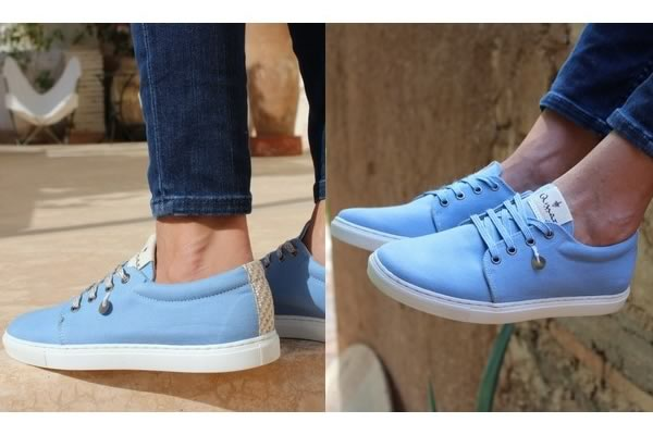 mozouna baskets Amaz bleues