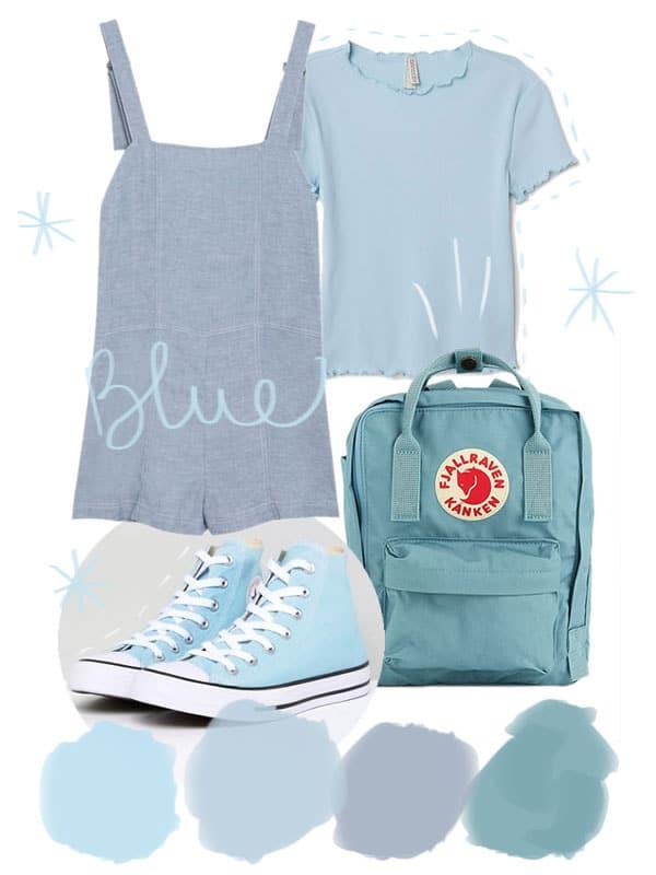 tendance camaieu couleur bleu