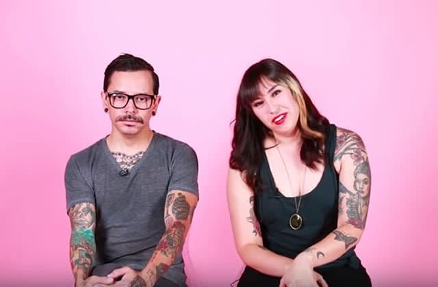 Un couple se découvre pour la première fois sans tatouages
