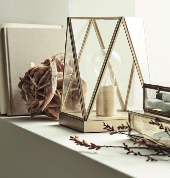 h&m home lampe métallique