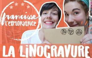 Élise t'emmène découvrir la linogravure, avec Lison la Morue!