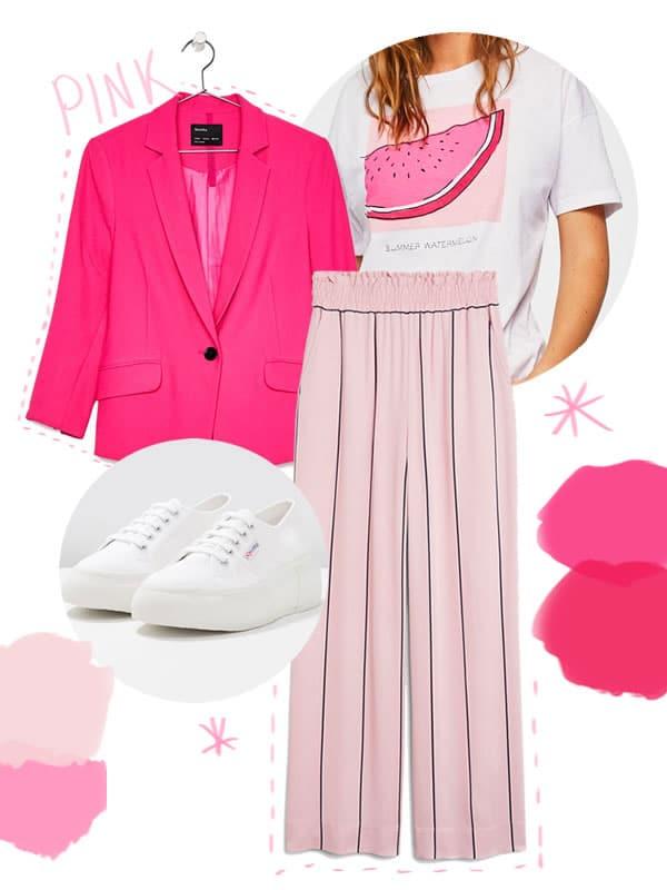 tenue rose été 2018