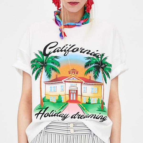 t shirt zara été 2018