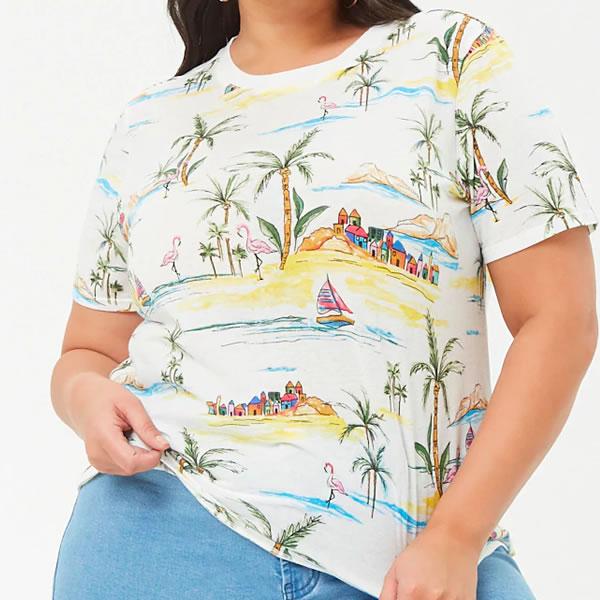 t shirt forever 21 curve été 2018