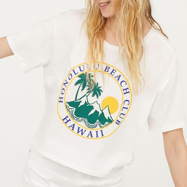 T-shirt H&M pas cher Hawaii