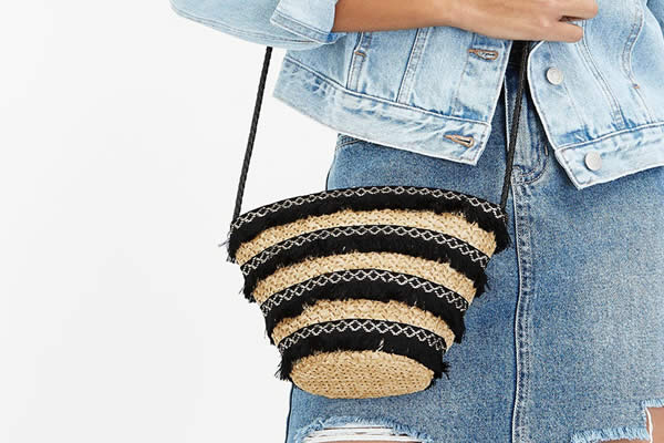 sac paille seau new look