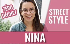 Nina te présente ses fringues pleines d'histoires dans son Street Style zéro déchet!