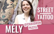 Street Tattoos —Johanna : aquarelle, calavera et pin-up zombie