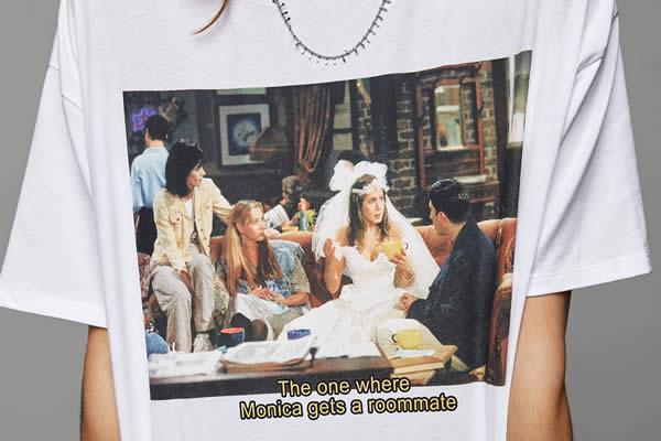 t shirt friends zara femme