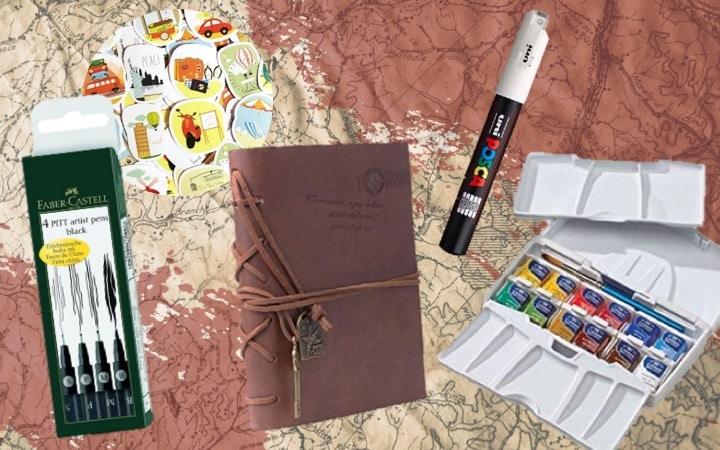 Kit pour commencer ton carnet de voyage