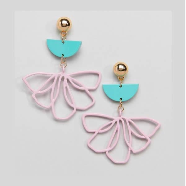 boucles d'oreilles ASOS fleurs
