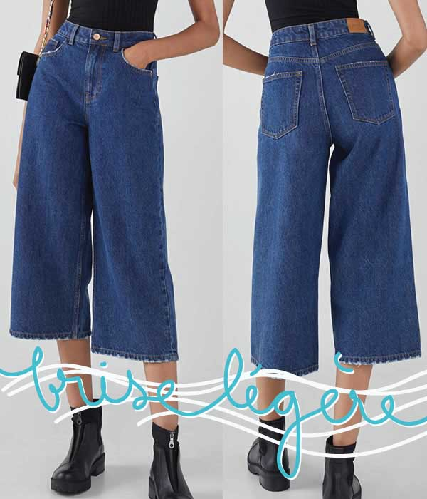 jupe culotte denim
