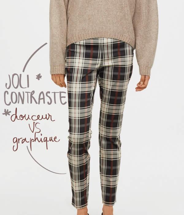 pantalon à carreaux H&M pas cher