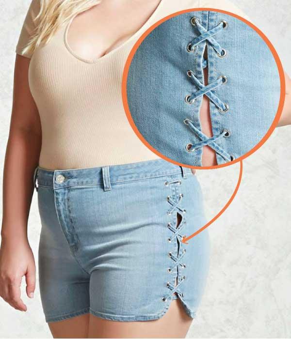 short jean grandes tailles forever 21