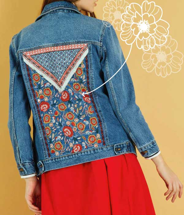 veste kiabi denim broderies