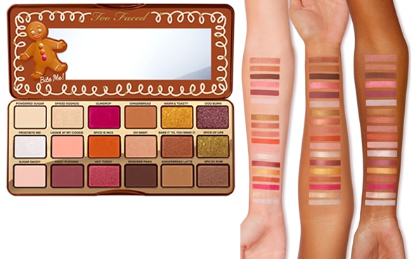 palette Too faced gingerbread spice noël