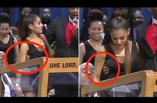 Ariana Grande, pelotée sur scène lors d'un enterrement, dans le plus grand des calmes