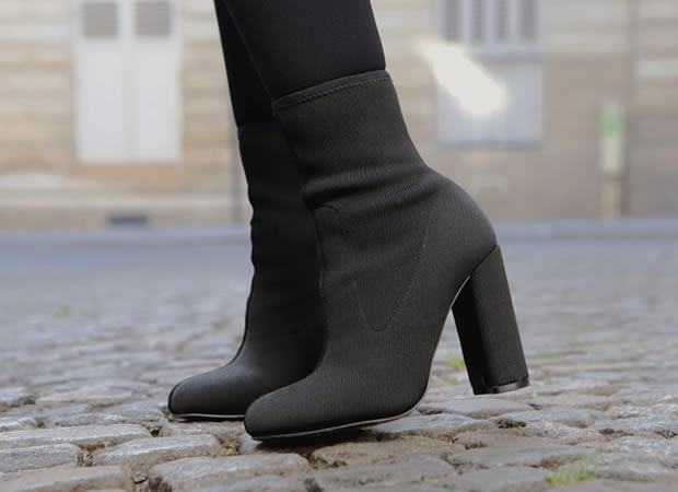 bottines en mailles