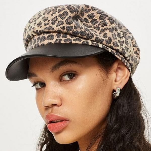 casquette gavroche léopard Topshop
