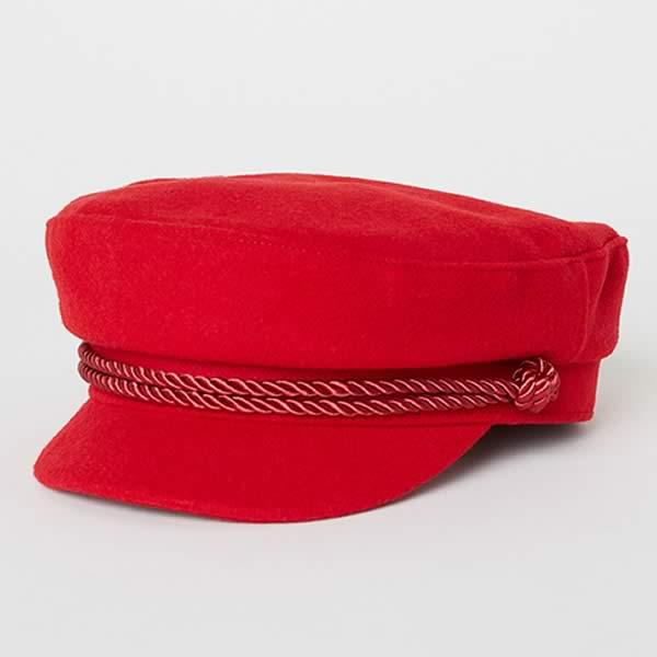 casquette marin rouge H&M