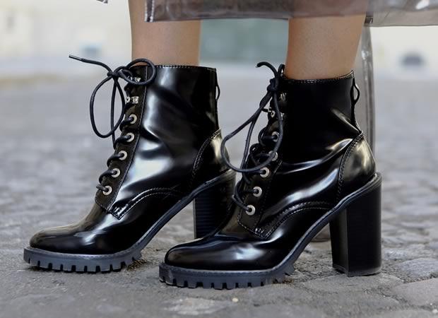 boots noires à talons ASOS