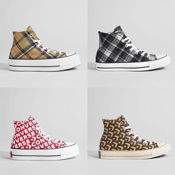 les ventes chaudes vente officielle vente en ligne Bershka collabore avec Converse sur des chaussures pour l ...