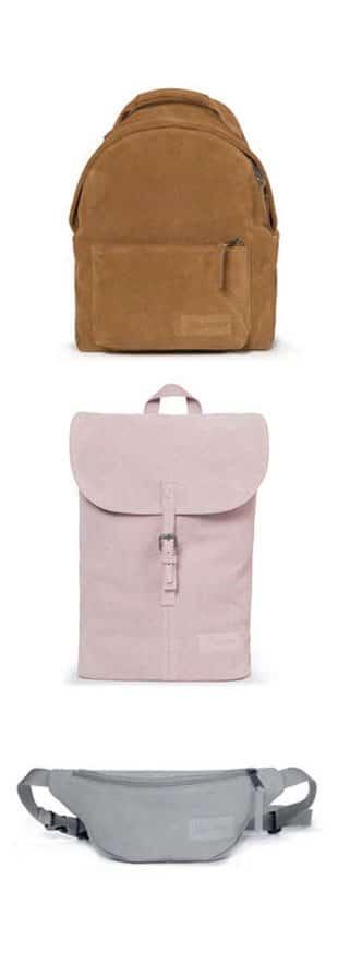 sacs eastpak peaux velours