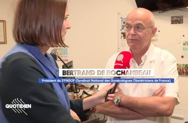 Le représentant des gynécologues est anti-IVG. En France. En 2018.