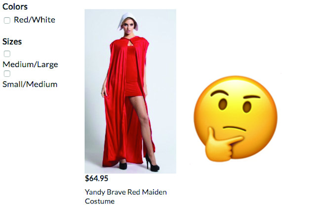 Un costume sexy de The Handmaid's Tale fait polémique