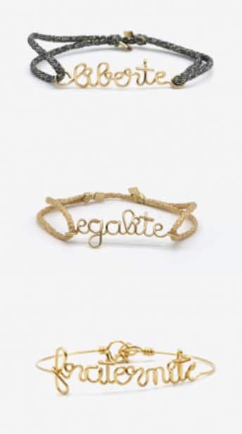 bracelets liberté égalité fraternité