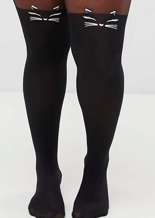 collants chat noir halloween asos