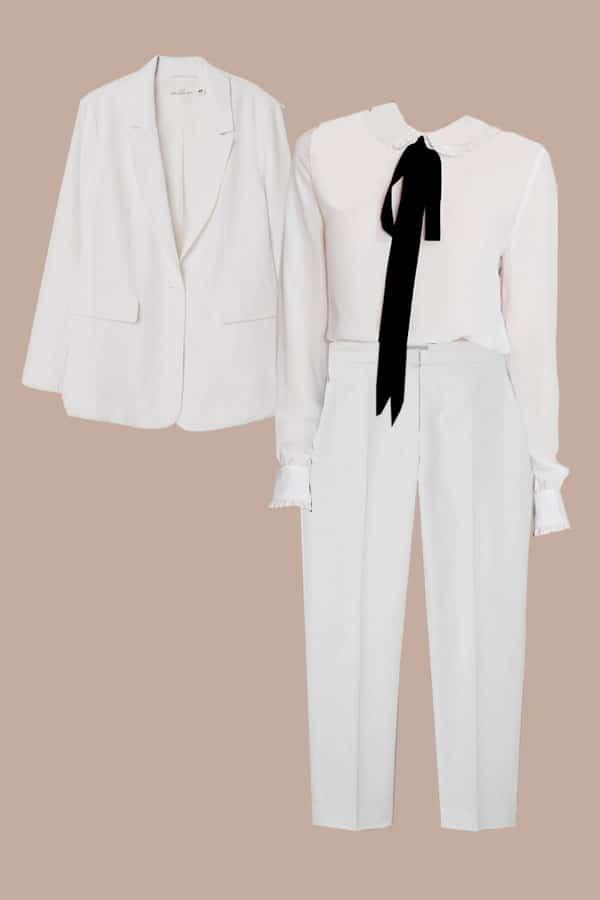 costume blanc pas cher
