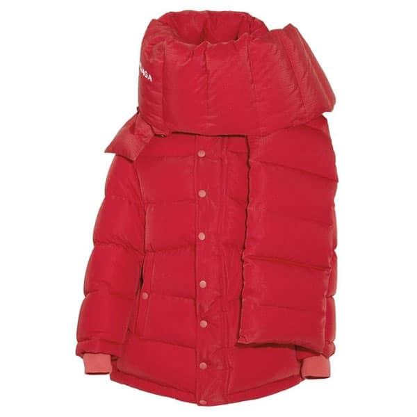 doudoune rouge écharpe femme