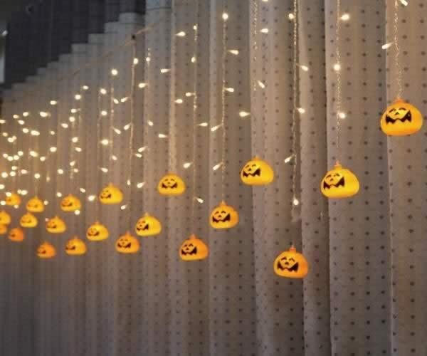 guirlande lumineuse citrouilles halloween