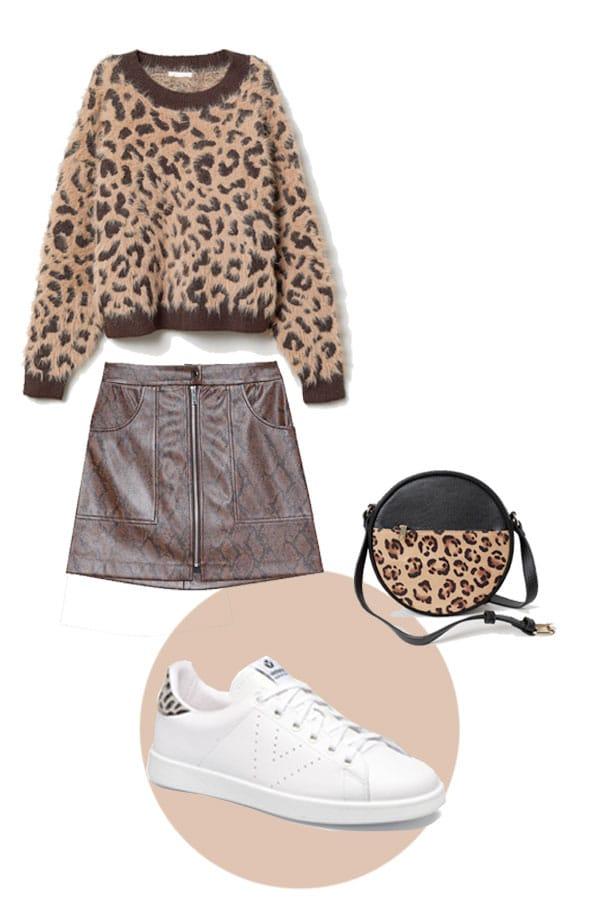 imprimés leopard look urbain